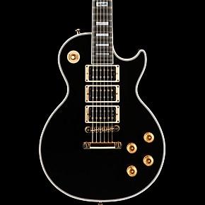 gibson custom peter frampton les paul custom ebony gold hardware guitar center. Black Bedroom Furniture Sets. Home Design Ideas