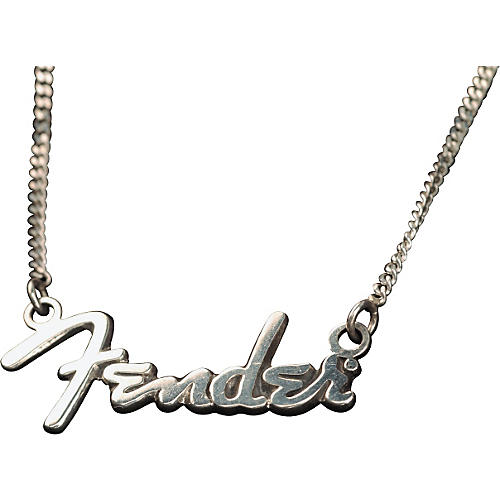 Fender Pewter Logo Pendant Necklace