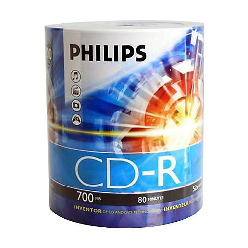 Philips Philips CDR 52X 700MB/80-Minute 100-pack