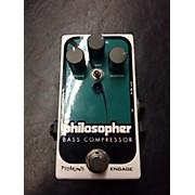 Philosopher Bass Compressor Bass Effect Pedal