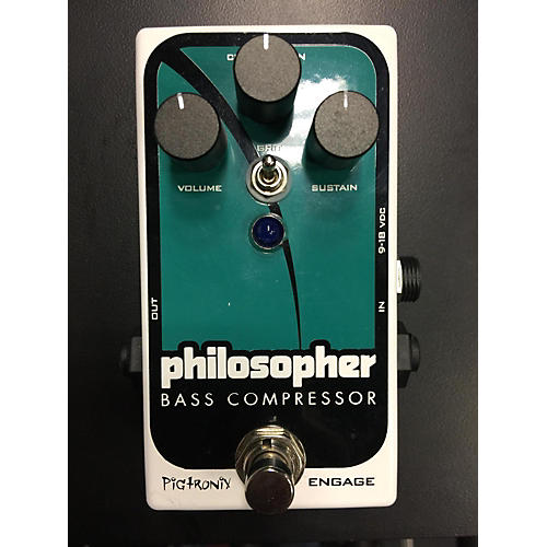 Pigtronix Philosopher Bass Compressor Bass Effect Pedal-thumbnail