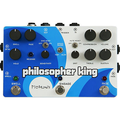 Pigtronix Philosopher King Compressor and Sustainer Guitar Effects Pedal-thumbnail