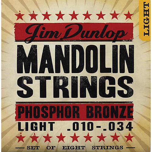 Dunlop Phospher Bronze 8-String Mandolin Set Light