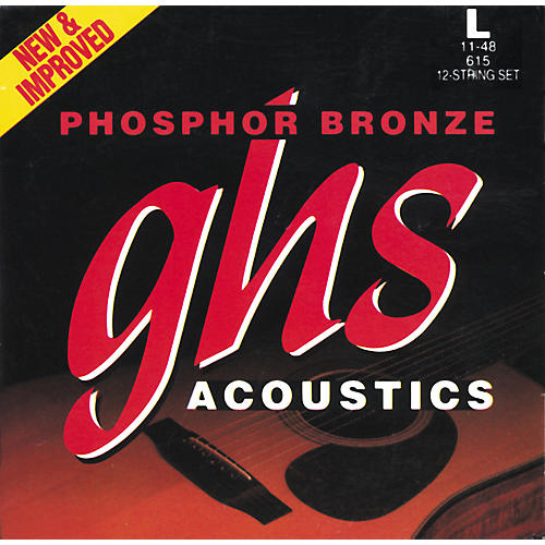 GHS Phosphor Bronze 12-String Light Acoustic Guitar Strings-thumbnail