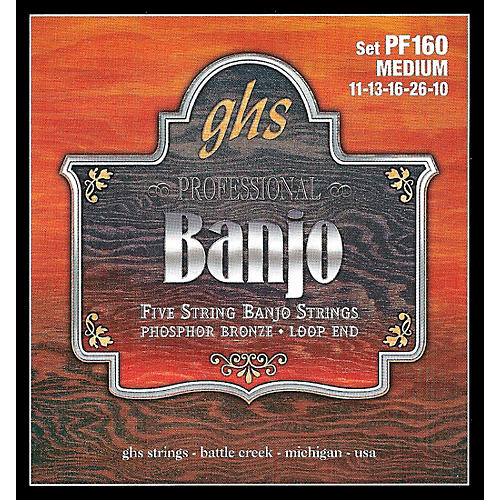 GHS Phosphor Bronze 5-String Banjo Strings Medium-thumbnail