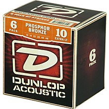 Dunlop Phosphor Bronze Acoustic Guitar Strings Xtra Light 6-Pack