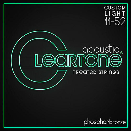 Cleartone Phosphor-Bronze Extra Light Acoustic Guitar Strings