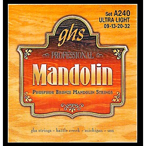 GHS Phosphor Bronze Mandolin Strings Ultra Light by GHS