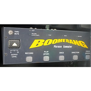 Pre-owned Boomerang Phrase Sampler Pedal by Boomerang