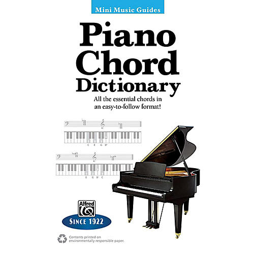 Alfred Piano Chord Dictionary Mini Music Guides Book
