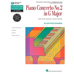 Hal Leonard Piano Concerto No. 2 in G Major 2 Pianos 4 Hands Book/CD Compos...