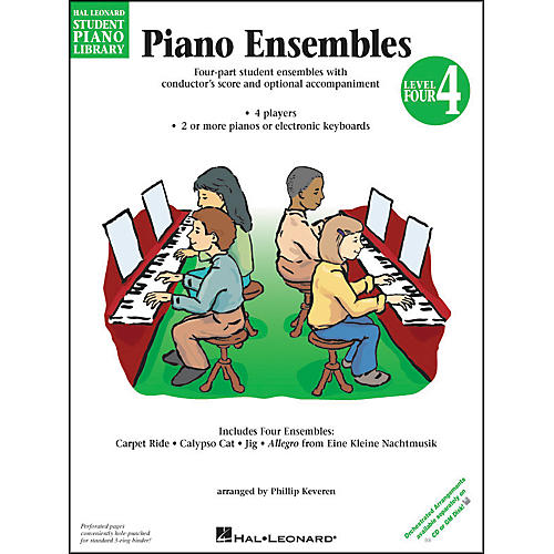 Hal Leonard Piano Ensembles Book 4 Hal Leonard Student Piano Library by Phillip Keveren-thumbnail
