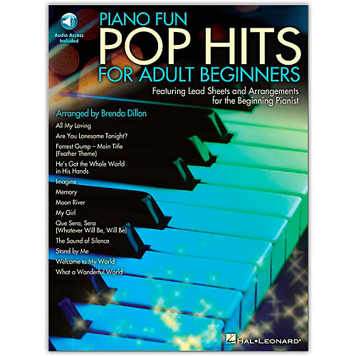 Hal Leonard Piano Fun - Pop Hits For Adult Beginners (Book/Online Audio)-thumbnail