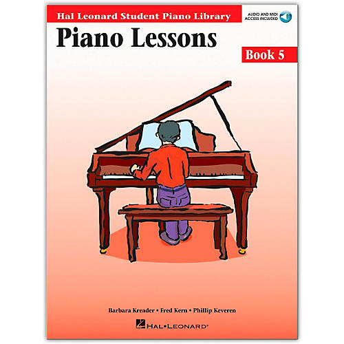 Hal Leonard Piano Lessons Book 5 Book/CD Package Hal Leonard Student Piano Library-thumbnail