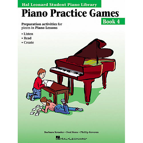 Hal Leonard Piano Practice Games Book 4 Piano Library Series Book by Barbara Kreader