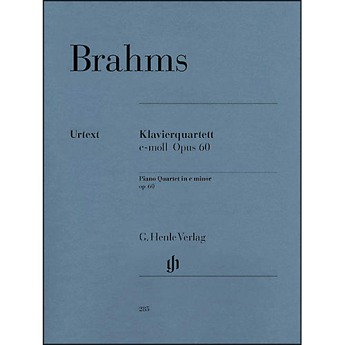 G. Henle Verlag Piano Quartet C Minor Op. 60 By Brahms