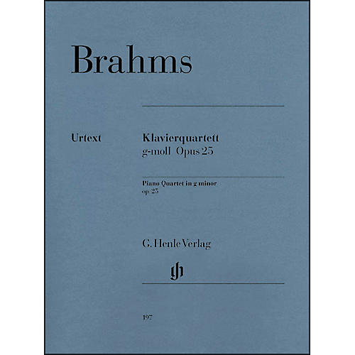 G. Henle Verlag Piano Quartet G minor Op. 25 By Brahms