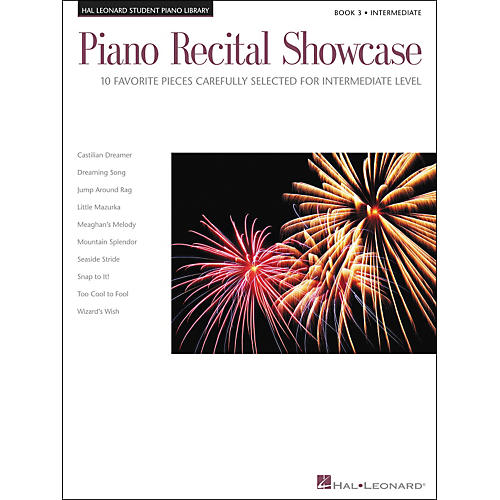 Hal Leonard Piano Recital Showcase Book 3 Intermediate level Hal Leonard Student Piano Library-thumbnail