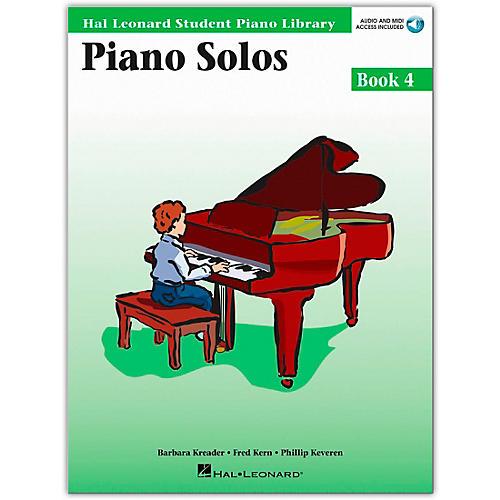 Hal Leonard Piano Solos Book 4 Book/CD Hal Leonard Student Piano Library