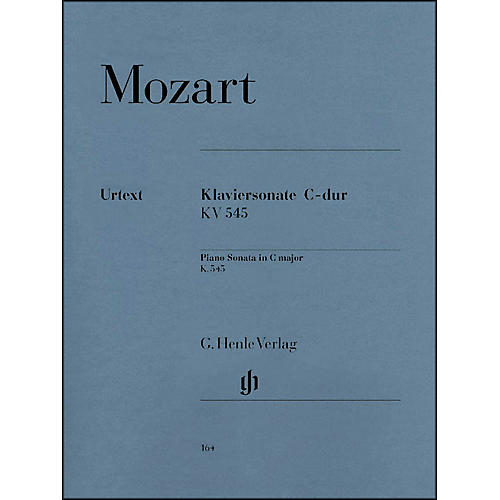 G. Henle Verlag Piano Sonata In C Major K545 (Facile) By Mozart
