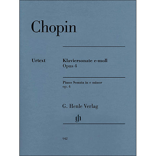 G. Henle Verlag Piano Sonata In C Minor Op. 4 By Chopin / Mullemann