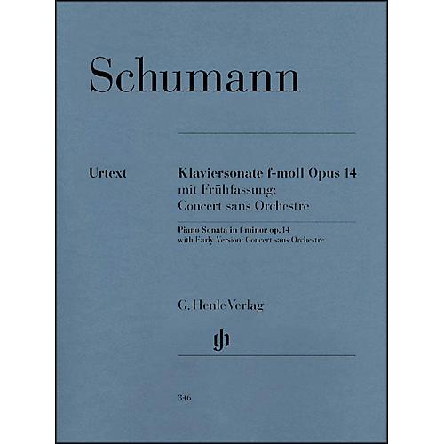 G. Henle Verlag Piano Sonata In F Minor Op. 14 By Schumann