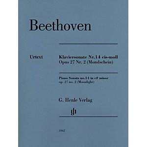 G. Henle Verlag Piano Sonata No 14 in C-sharp min Op 27 No 2 Moonlight He...