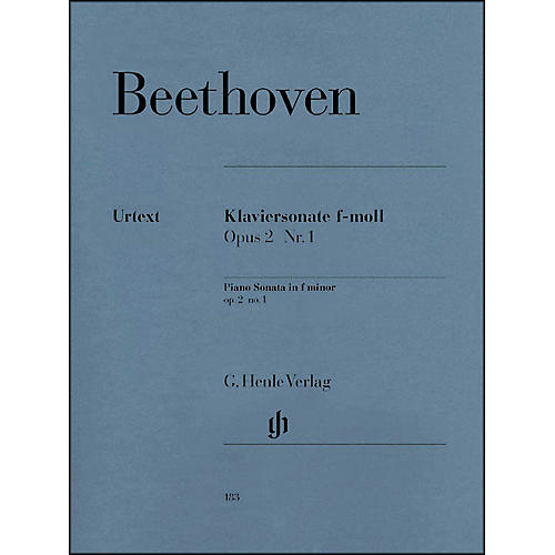 G. Henle Verlag Piano Sonata No. 1 in F Minor, Op. 2 By Beethoven