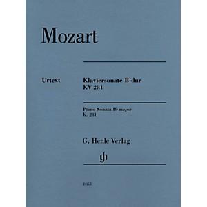 G. Henle Verlag Piano Sonata in B-flat Major, K281 189f Henle Music Softc...