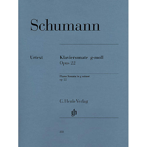 G. Henle Verlag Piano Sonata in G minor, Op. 22 (with Original Last Movement) Henle Music Folios Series Softcover