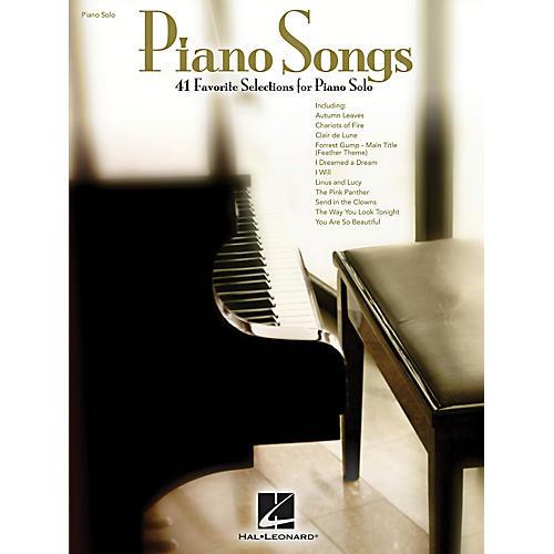 Hal Leonard Piano Songs - 41 beautiful solo arrangements that you'll love to play!-thumbnail