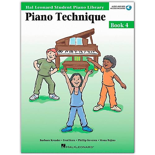Hal Leonard Piano Technique Book/Online Audio 4 Hal Leonard Student Piano Library Book/Online Audio
