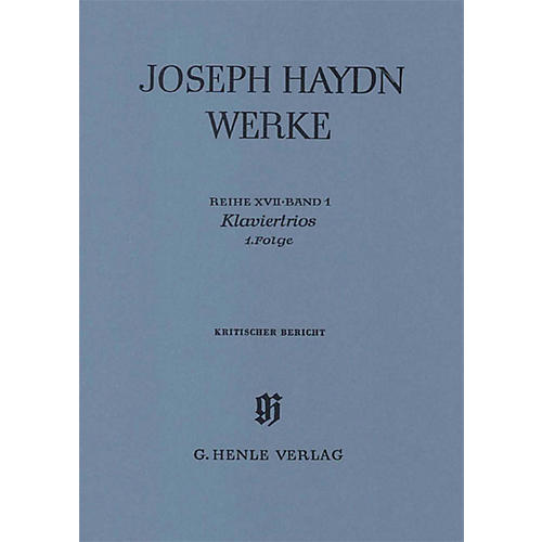 G. Henle Verlag Piano Trios, 1st Volume Henle Edition Series Softcover