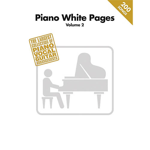 Hal Leonard Piano White Pages Vol 2 Piano/Vocal/Guitar Songbook-thumbnail