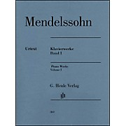G. Henle Verlag Piano Works Volume I By Mendelssohn