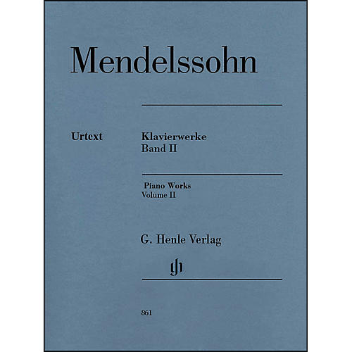 G. Henle Verlag Piano Works Volume II By Mendelssohn
