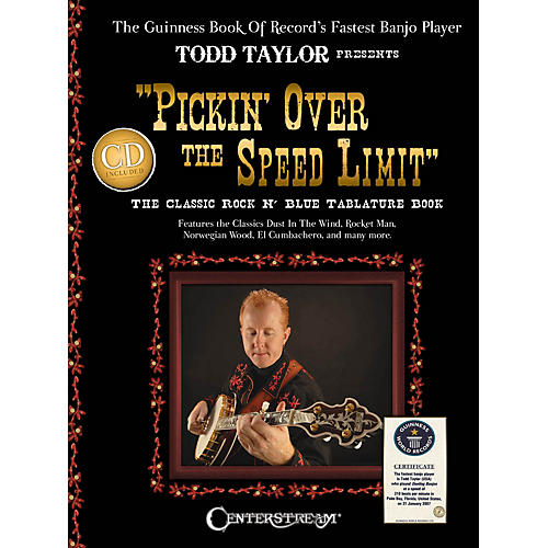 Centerstream Publishing Pickin' over the Speed Limit Banjo Series Softcover with CD Performed by Todd Taylor