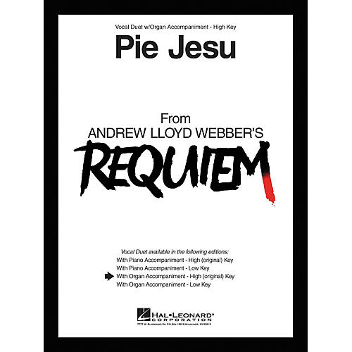 Hal Leonard Pie Jesu From Requiem Vocal Duet High Voice with Organ Accompaniment-thumbnail