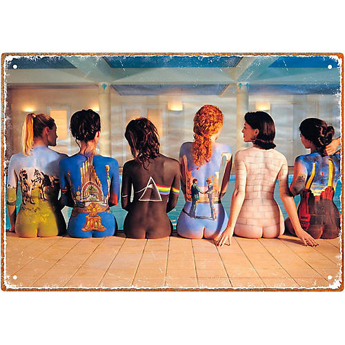 Hal Leonard Pink Floyd Back Art Tin Sign-thumbnail