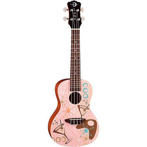 Luna Guitars Pink Martini Concert Ukulele