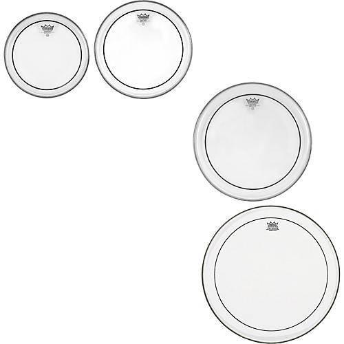 Remo Pinstripe Clear 4-piece Tom Drumhead Pack-thumbnail
