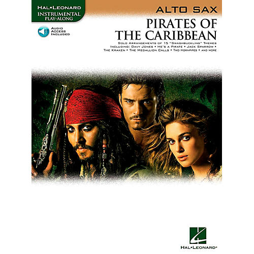 Hal Leonard Pirates Of The Caribbean for Alto Sax Instrumental Play-Along (Book/Online Audio)-thumbnail