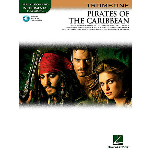 Hal Leonard Pirates Of The Caribbean for Trombone Instrumental Play-Along (Book/Online Audio)-thumbnail