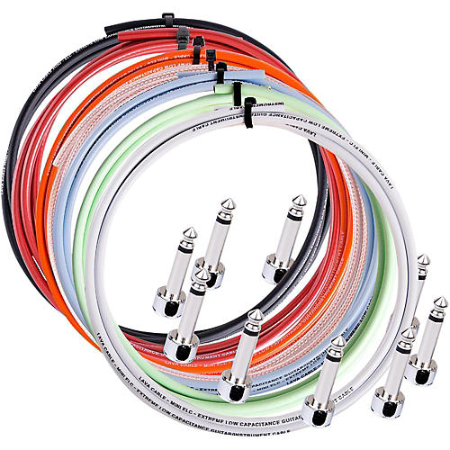 Lava Piston Solder-Free Mini ELC Cable Kit with 10 Right Angle Plugs 10 ft. Orange