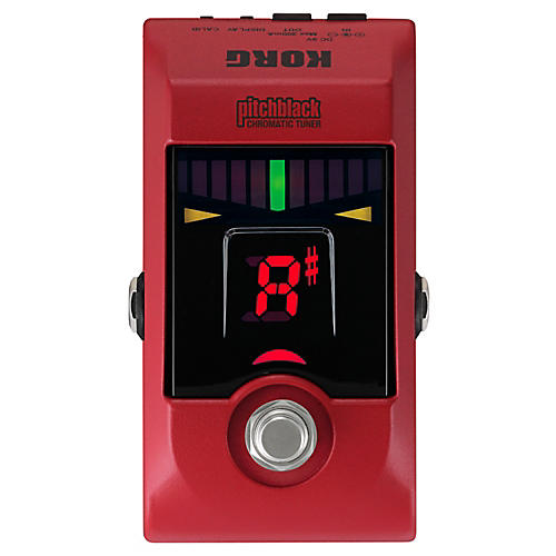 Korg Pitchblack Chromatic Pedal Tuner Red