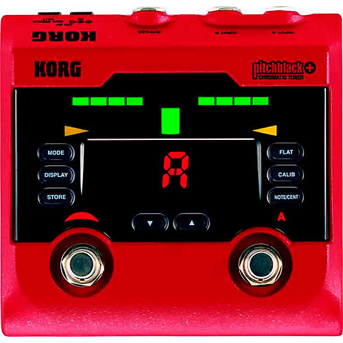 Korg Pitchblack+ Limited Edition Red Pedal Tuner