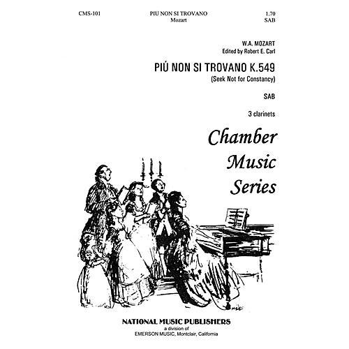 Hal Leonard Piu Non Si Trovano SAB composed by Robert Carl