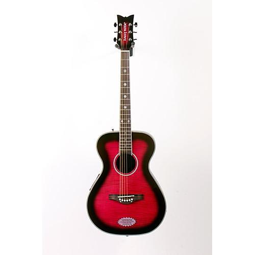 Daisy Rock Pixie Acoustic-Electric Guitar Plum Purple Burst 886830955853