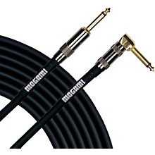 Mogami Platinum Instrument Cable with Right Angle to Straight End Connectors Level 1 20 ft. Right Angle to Straight