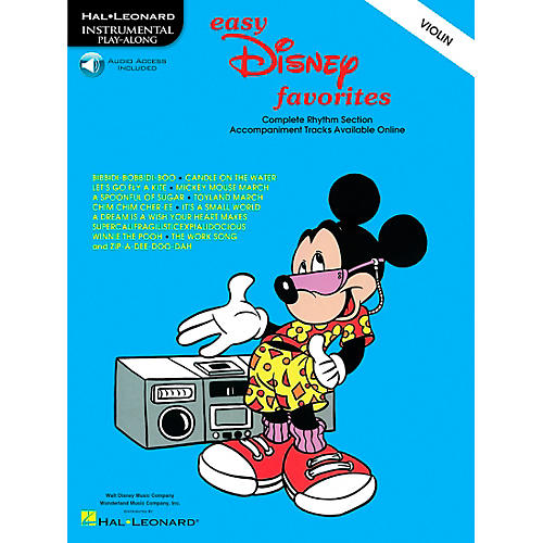Hal Leonard Play-Along Disney Favorites Book with CD Violin